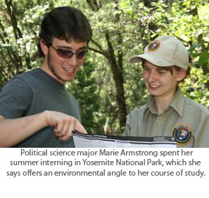 Political Science Student Relishes Summer in Yosemite
