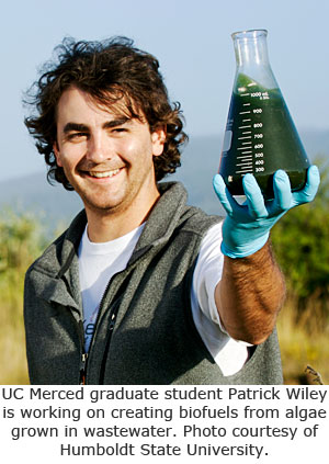 Student Works to Find Fuel in Wastewater Algae