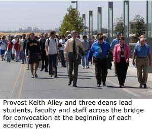 Bridge Crossing, Convocation - A Campus Tradition Continues