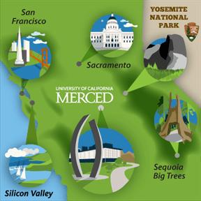 UC Merced map of California