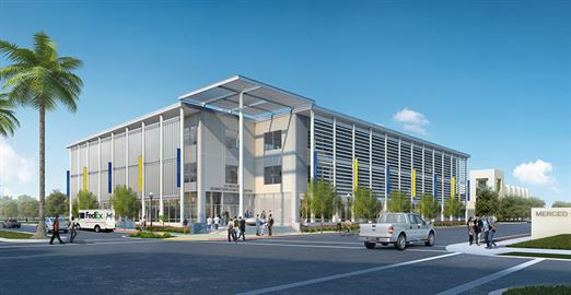 Rendering of UC Merced's Downtown Campus Center