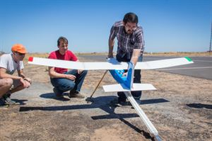 MECHA lab researchers work on a drone