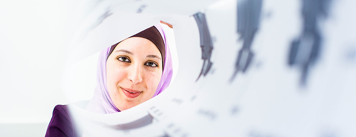 Professor Ala Qattawi is one of many female engineers on campus, but the only one with a degree in automotive engineering. She lends her expertise to problems of design and manufacturing.