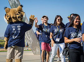The campus welcomed more than 2,200 first-year students for the 2016-17 academic year.