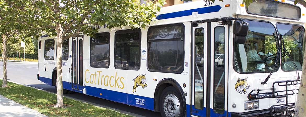 UC Merced CatTracks buses provide transit services for the campus.