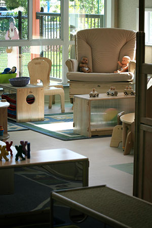 child play area with couches
