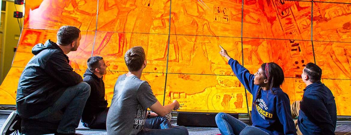 The WAVE is an immersive visual experience that transports researchers and visitors to locations around the world.