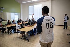 National Society of Black Engineers students highlight engineering careers.