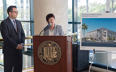 With the Downtown Campus Center as an anchor downtown, the university can continue to foster and create partnerships with the Merced community.