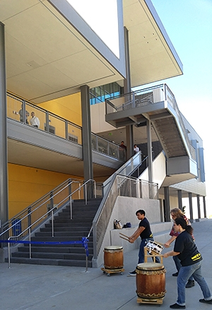 UC Merced students entertained campus supporters during Wednesday's event.