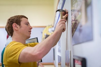 Adam Brown is one of several undergraduate history majors who helped create the UC Merced exhibit.