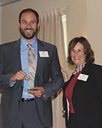 GradSLAM winner Nathaniel Bogie and Dean Marjorie Zatz