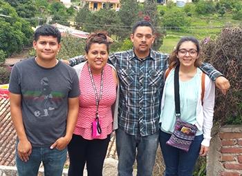 From left: Rodolfo Rodriguez, Maria Mora, Alejandro Zermeño and Danielle Bermudez.