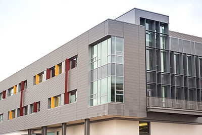 The new Classroom and Office Building 2 will open for classes in the fall.