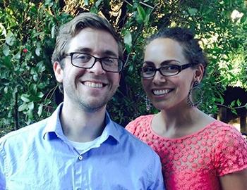 Alumnus Erik Olstad with his fiancée, Katie Barnes.
