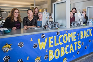 The Students First Center is the campus's one-stop shop for questions regarding class registration, financial aid and more.