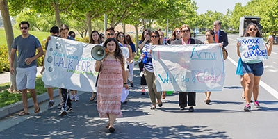 The Walk for Change is from noon to 1 p.m. April 14.
