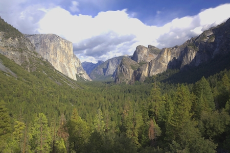 Yosemite Valley in the western Sierra Nevada Mountains.