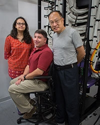 Professors Suzanne Sindi, Hrant Hratchian and Jian-Qiao Sun are all part of a new NSF grant that has brought a supercomputer to campus.