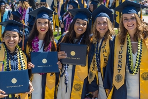 The campus is preparing for the largest graduating class of roughly 1,200 candidates who are eligible to participate in the weekend's ceremonies.