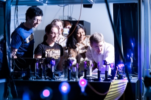 The new physics graduate group offers a variety of research possibilities.