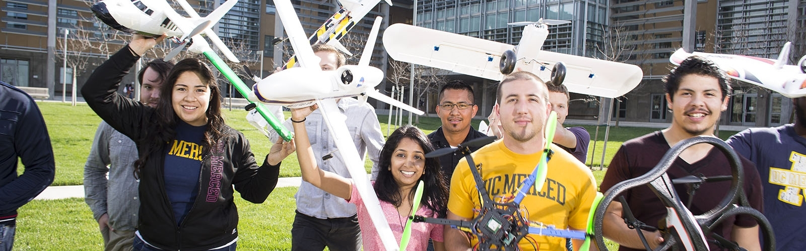 UC Merced's MESA lab students study drones