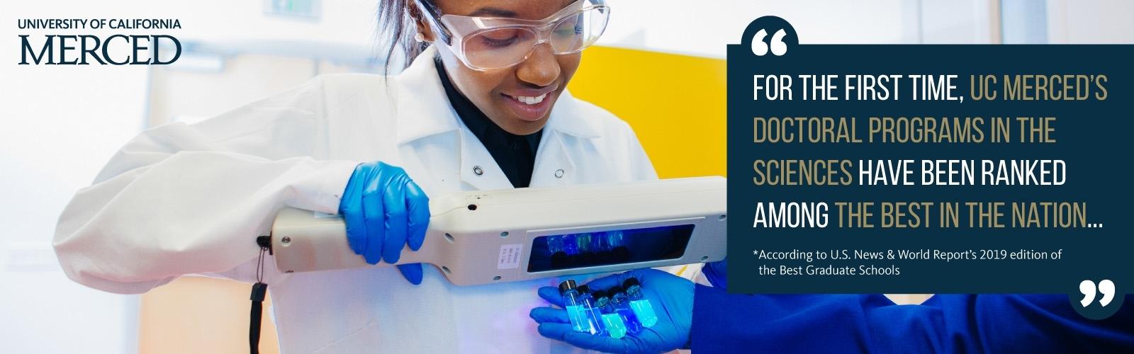 UC Merced graduate programs in sciences have debuted in national rankings