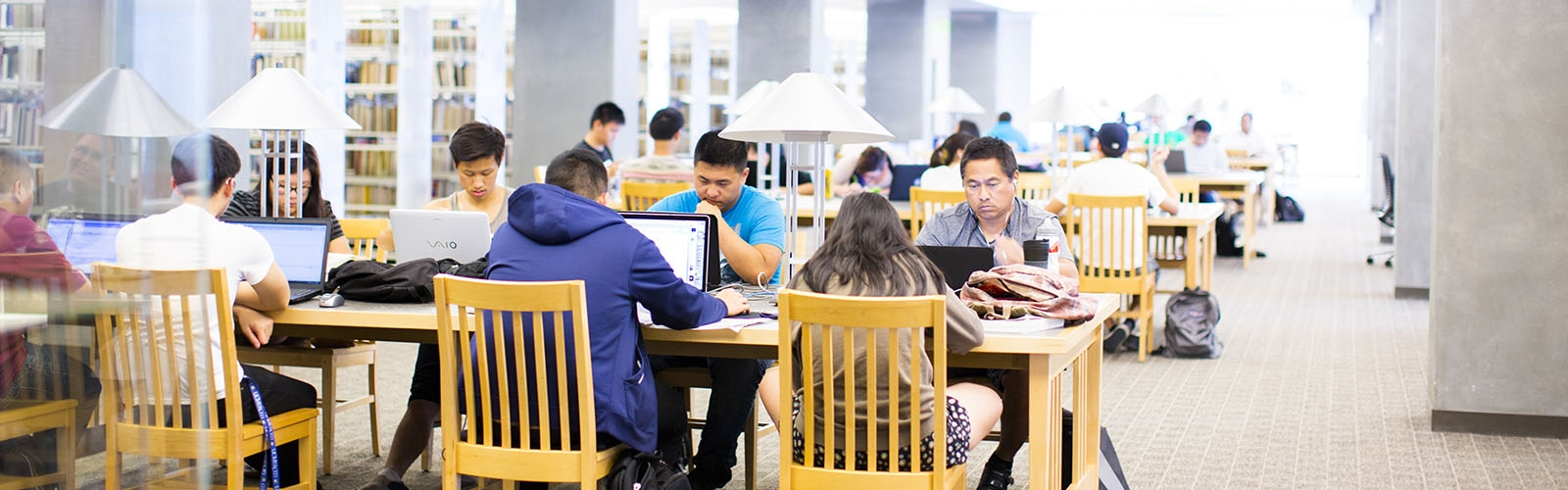 The UC Merced Library offers plenty of space to study, write or collaborate.